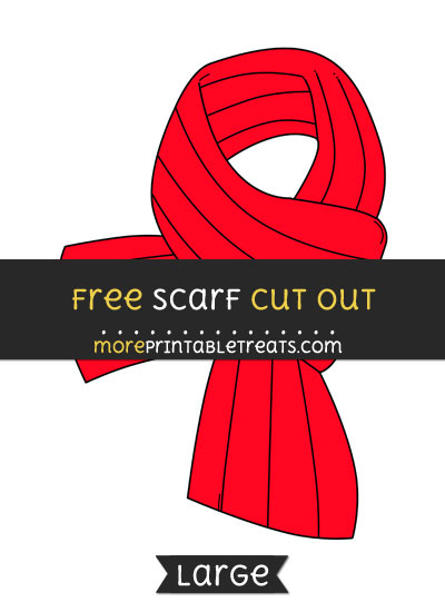 Free Scarf Cut Out - Large size printable