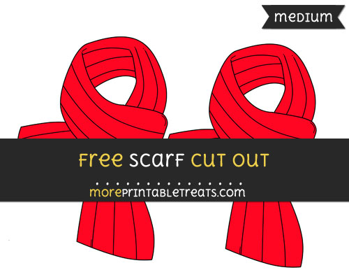 Free Scarf Cut Out - Medium Size Printable