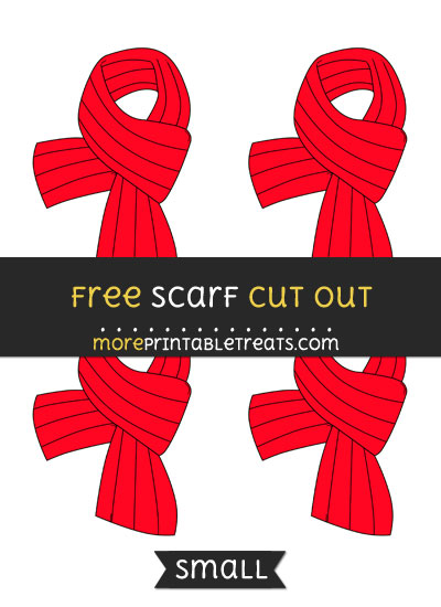 Free Scarf Cut Out - Small Size Printable
