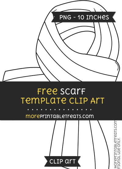 Free Scarf Template - Clipart