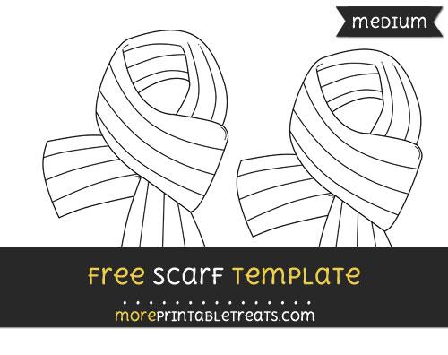 Free Scarf Template - Medium