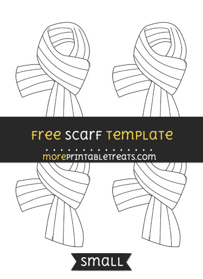 Free Scarf Template - Small