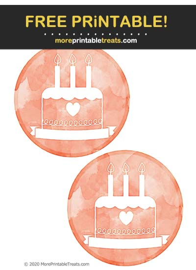Free Printable Scarlet Red Watercolor Blank Text Birthday Icon Cut Outs
