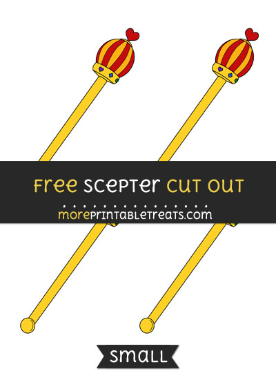 Free Scepter Cut Out - Small Size Printable