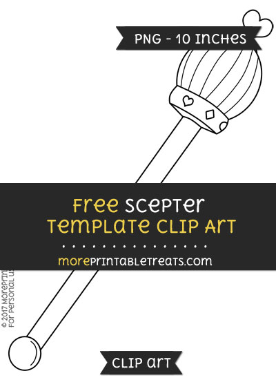 Free Scepter Template - Clipart