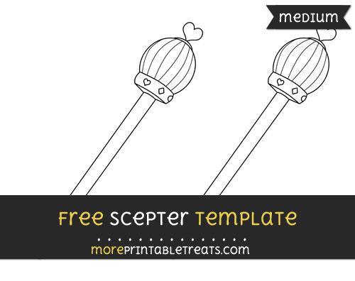 Free Scepter Template - Medium