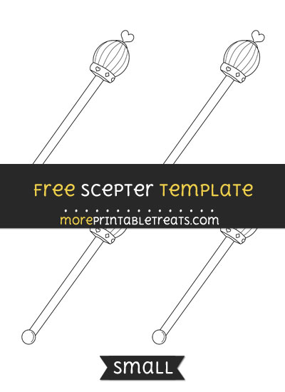 Free Scepter Template - Small