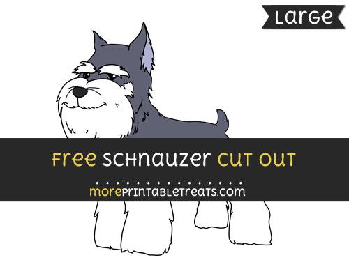 Free Schnauzer Cut Out - Large size printable