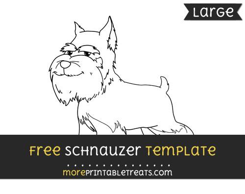 Free Schnauzer Template - Large
