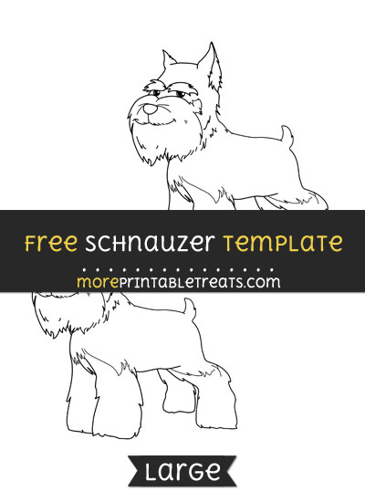 Free Schnauzer Template - Medium