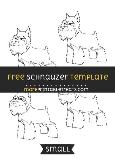 Free Schnauzer Template - Small