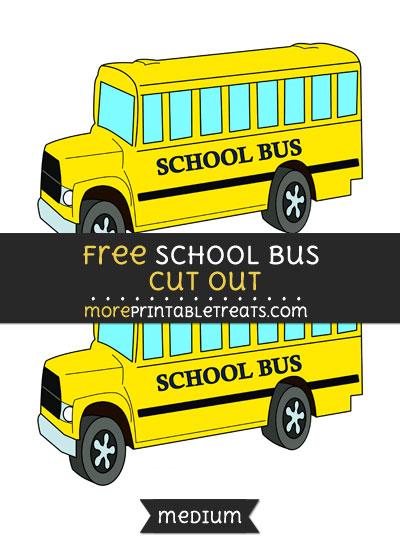 Free School Bus Cut Out - Medium Size Printable