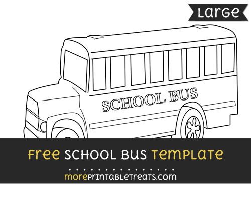 Free School Bus Template - Large