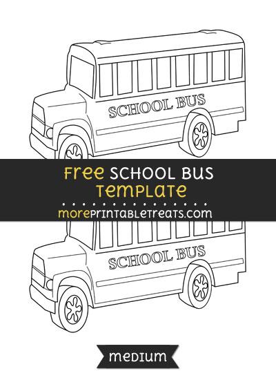 Free School Bus Template - Medium