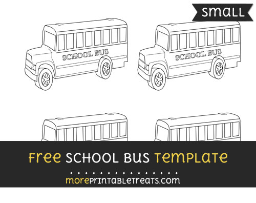 Free School Bus Template - Small