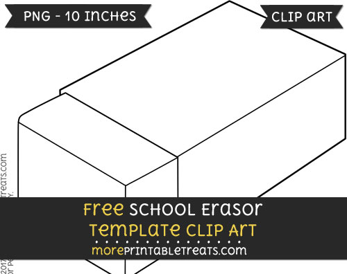 Free School Erasor Template - Clipart