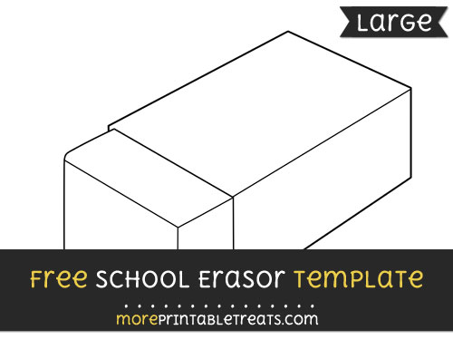 Free School Erasor Template - Large