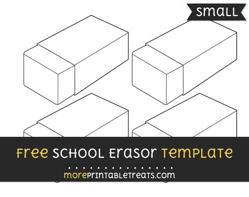 Free School Erasor Template - Small