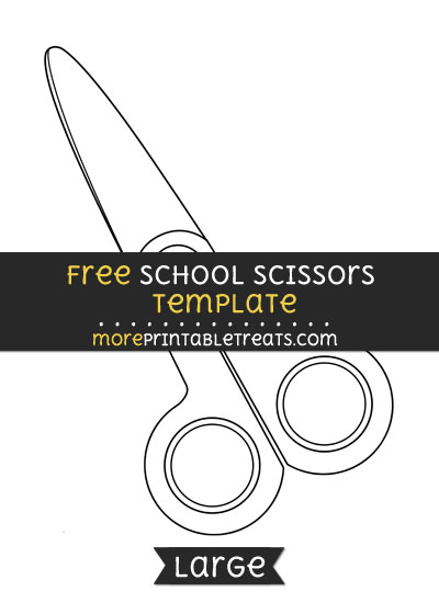 Free School Scissors Template - Large