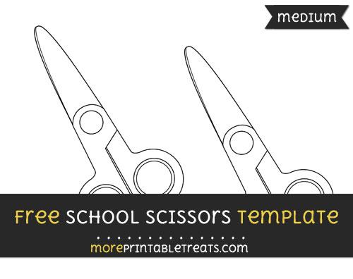 Free School Scissors Template - Medium