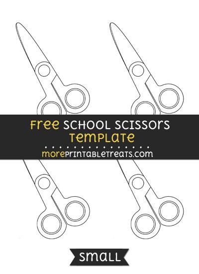 Free School Scissors Template - Small