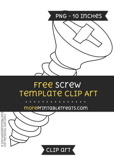 Free Screw Template - Clipart