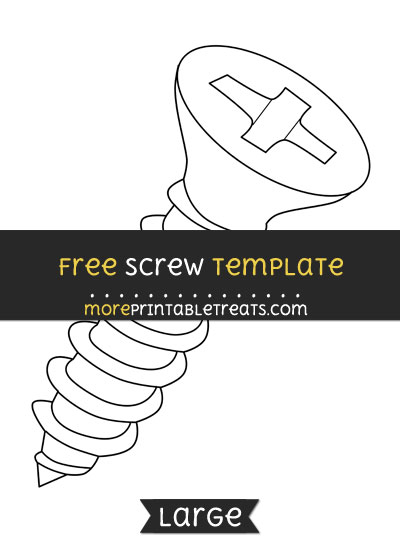 Free Screw Template - Large