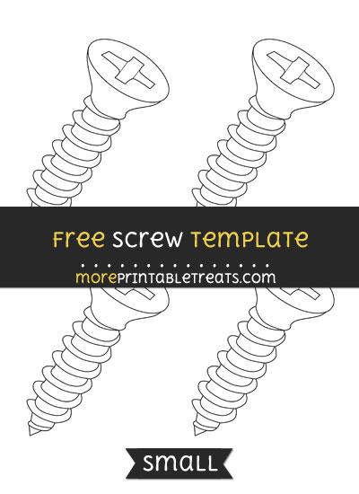 Free Screw Template - Small
