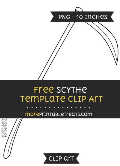 Free Scythe Template - Clipart