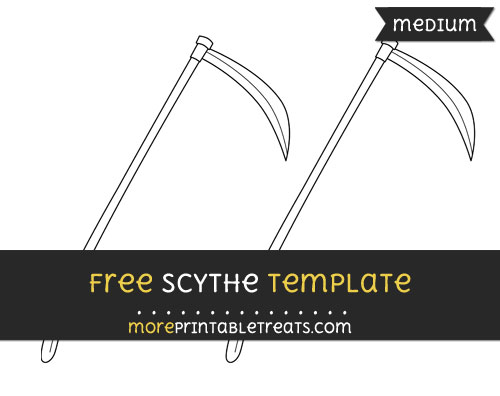 Free Scythe Template - Medium
