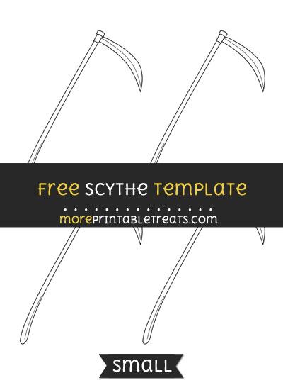 Free Scythe Template - Small