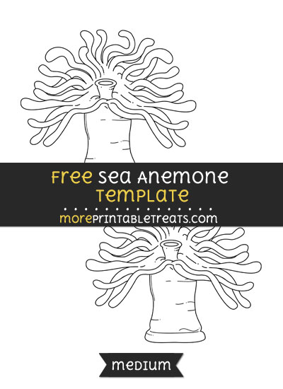 Free Sea Anemone Template - Medium