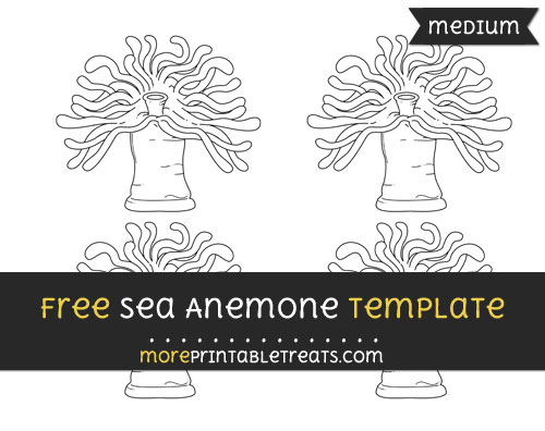 Free Sea Anemone Template - Small