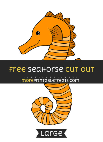 Free Seahorse Cut Out - Large size printable