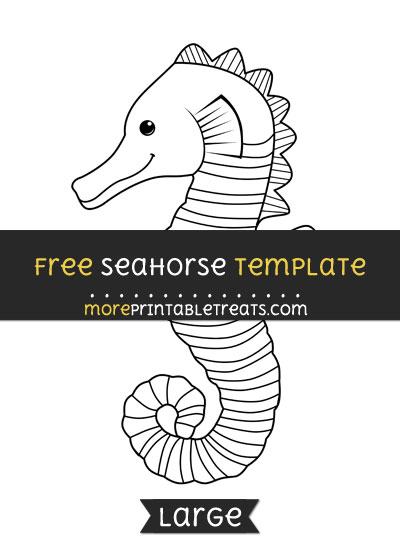 Free Seahorse Template - Large