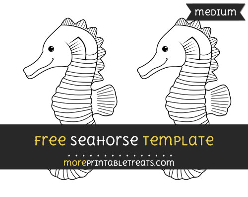 Free Seahorse Template - Medium