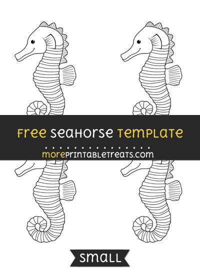 Free Seahorse Template - Small