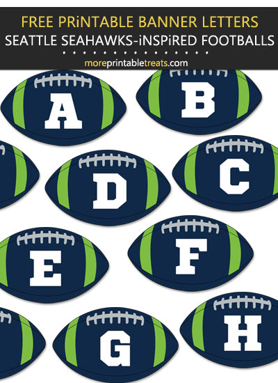 Free Printable Seattle Seahawks-Inspired Football Alphabet