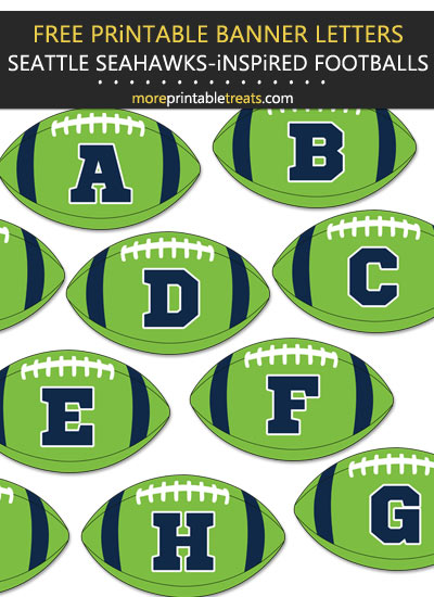 Free Printable Seattle Seahawks-Inspired Football Bunting Banner