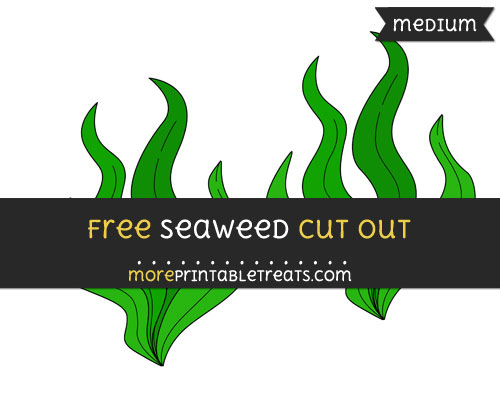Free Seaweed Cut Out - Medium Size Printable