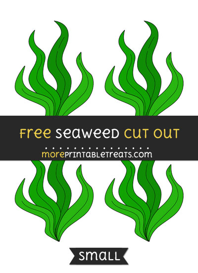 Free Seaweed Cut Out - Small Size Printable