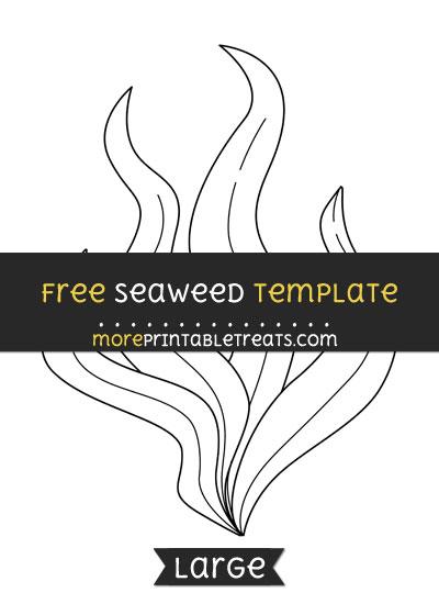 Free Seaweed Template - Large