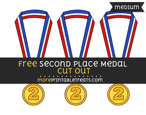 Free Second Place Medal Cut Out - Medium Size Printable