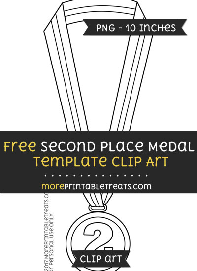 Free Second Place Medal Template - Clipart
