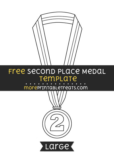 Free Second Place Medal Template - Large