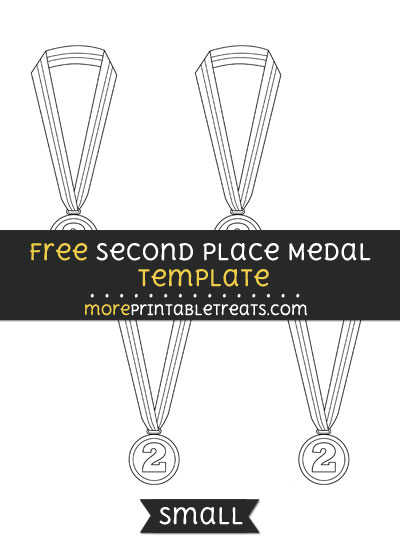 Free Second Place Medal Template - Small