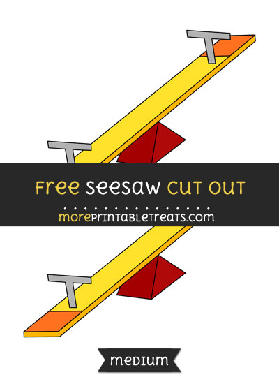 Free Seesaw Cut Out - Medium Size Printable