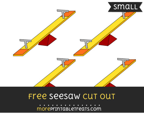 Free Seesaw Cut Out - Small Size Printable