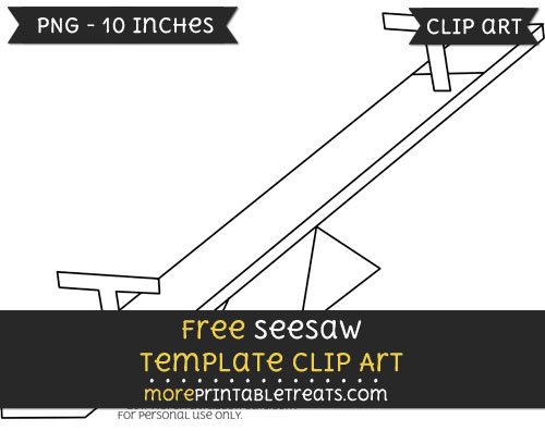 Free Seesaw Template - Clipart
