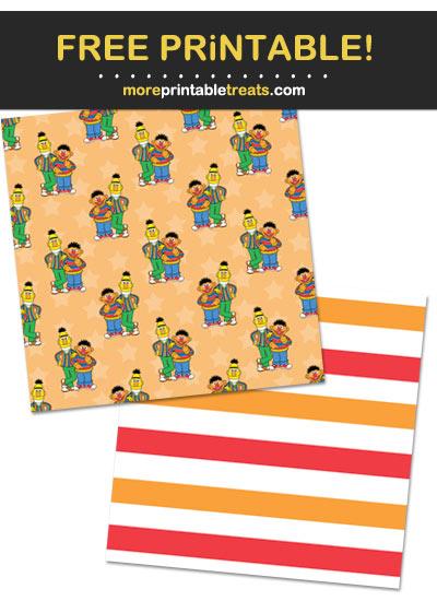 Free Printable Sesame Street Characters Pattern Paper